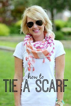 Hi Sugarplum | How to tie a scarf effortlessly and so it looks like an infinity scarf.
