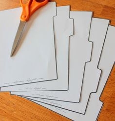 The Art of Being Mama: Homemade Binder Tabs {free printables}