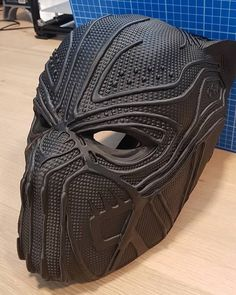 3D printed Killmonger mask (from the movie Black Panther) by Rapheal Steurer designed by Makers Lab CZ
