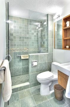 Compact Bathroom Designs - this would be perfect in my small master bath - LOVE the color!