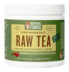 Natural Force Pre-Workout - RAW TEA - Paleo Friendly, Made with Organic Ingredients - List price: $74.99 Price: $54.99 Saving: $20.00 (27%)  #NaturalForceNutrition