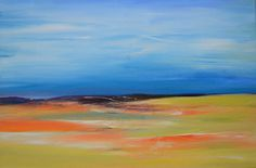 Abstract landscape painting by South African by ARTfromSouthAfrica, $170.00