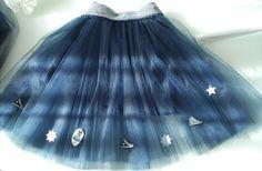 Jupon en tulle bleu marine esprit converse avec fond de jupe amovible : Mode filles par my-arabesque