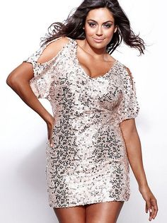 Turquoise Silver Gold Deep V Glitter Sequin Dress | Curves, Curvy ...