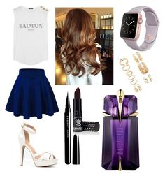 """""""Untitled #43"""" by krishu1324 on Polyvore featuring Balmain, Marc Jacobs, Manic Panic, Thierry Mugler and Forever 21"""