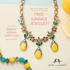 Host a pop-up with me and earn FREE jewelry! (Online, even if we aren't close!!)  Tons of awesome hostess incentives for June.  You invite your friends, shop & earn free jewelry in the process!   So What are you waiting for?!  www.chloeandisabel.com/boutique/margefraser
