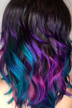Trendy Hair Color : Dark purple hair is quite bold, and that is a fact. But if to compare dark purpl… Dark Purple Hair Color, Pretty Hair Color, Beautiful Hair Color, Ombre Hair Color, Purple Hues, Hair Color For Kids, Dark Ombre, Purple Ombre, Pelo Color Vino