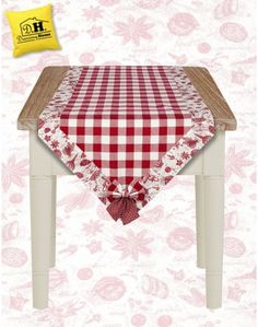 Runner Quadretti Country Chic Collezione Toile Spezie Angelica Home & Country 50 x 140 cm