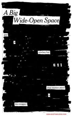 austin-based artist/writer Austin Kleon uses black sharpie to omit words in already-printed texts—leaving poetic messages through 'censorship'. Austin Kleon, Found Poetry, Education And Literacy, Blackout Poetry, Black Sharpie, Black Books, Silk Screen Printing, Text Design, Texans