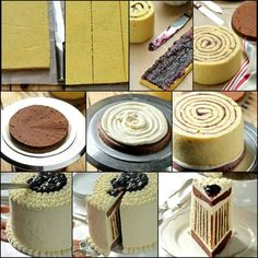 Pics on how to make a jam cake. It looks like jam? Would be really good with some chocolate ganache instead!!!