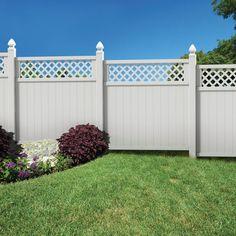 Gatehouse Arborley White Flat Top Privacy Vinyl Fence