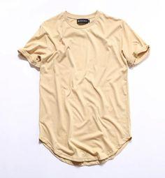 Justin Bieber Curved Hem Extended T-Shirt   9th Wave Apparel