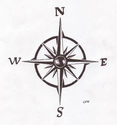 Compass tattoo idea. It'll need to be tweaked a bit.