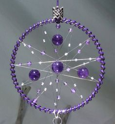 Check out this item in my Etsy shop https://www.etsy.com/uk/listing/288277609/purple-wall-hanging-dreamcatcher