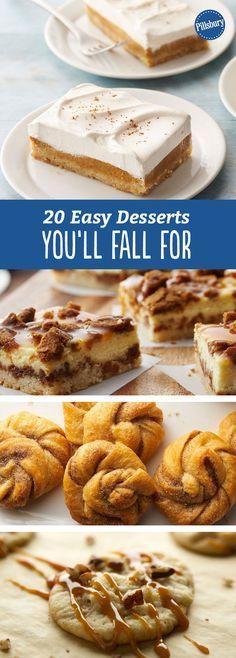 20 Easy Desserts You'll Fall For: With nods to caramel apples and pumpkin spice, these recipes will make your house smell so good.