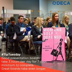 Good presentation boards take 3 hours per day for 7 days minimum to complete. Great boards take even longer. #TipTuesday