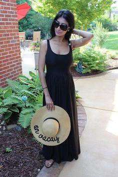 Fabric Mart Fabricistas  Made By A Fabricista  Black Summer Maxi Dress  Summer Maxi a0fb2d667
