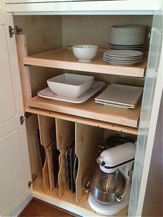 VREELAND ROAD: Client Kitchen Reveal: Before and After-organized pull out drawers in cabinets