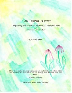 An Herbal Summer book - activities for kids (3-5 with help and 7-10 independently) for summer
