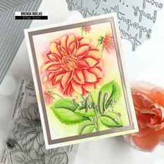 Flower Stamp, My Flower, I Card, Dahlias, Seasons, Ali Edwards, Floral, Card Ideas, Seasons Of The Year