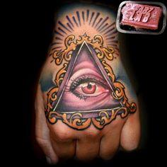 Off the Map Tattoo : Tattoos : Fabian Danger De Gaillande : All Seeing Eye Tattoo