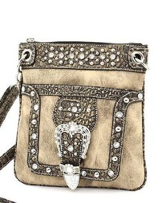 Taupe Western Rhinestone Buckle Crocodile Hipster Cross Body Purse Handbag Incorporated, http://www.amazon.com/dp/B006P4B37E/ref=cm_sw_r_pi_dp_vsRdrb0F97V26