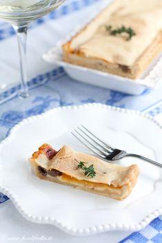 Tarte con Mele + gorgonzola + olive taggiasche