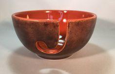 Yarn Bowl Ceramic Yarn Bowl Yarn Holder Knitting bowl by DabaDos