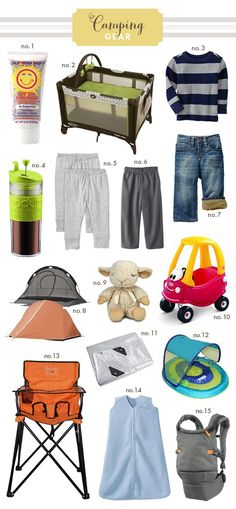 Found on Hellobee.com! Camping-Gear-Sketchbook Camping with baby someday!