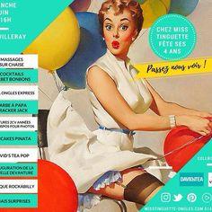 Chez Miss Tinguette fête ses 4 ans ! On vous en avait parlé auparavant, maintenant voici l'invitation officielle ! Chez Miss Tinguette #villeray #fête #ongles #massages #beauté #vintage