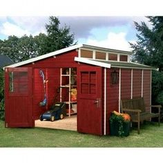 Shed Roof House Plans   Storage Shed Kits - Plans - Designs