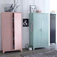 vestiaire m tal 2 portes la redoute chambre anastasia pinterest mobiles et armoires. Black Bedroom Furniture Sets. Home Design Ideas