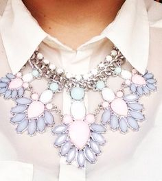 Large statement pastel neckless