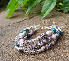 MOTHERS Bracelet Turquiose Jewelry Keepsake Gift by DreamNColor, $260.00
