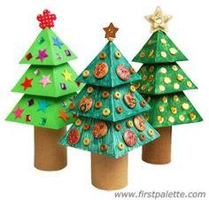 3D Paper Christmas Tree craft