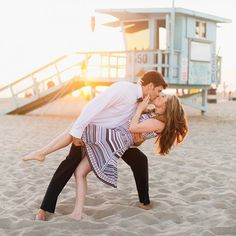 Fun-filled engagement session on and under the Santa Monica Pier! .....this website is almost as addictive as pinterest!