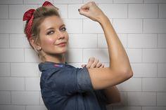 Rachel Riley – npower keep warm campaign October Photoshoot 2014