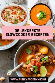 Slowcooker Archieven - FunkyFood by Niki Slow Cooker Recepies, Healthy Slow Cooker, Healthy Crockpot Recipes, Crock Pot Curry, Massaman Curry, Korma, Multicooker, Happy Foods, No Cook Meals