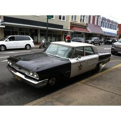 Vintage Police Car in Mayberry NC...ohh Andy Griffith