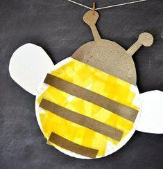 Biene basteln mit Kindern - 18 einfache und kreative Ideen mit Anleitung