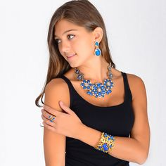 Amrita Pave Two-Tier Earring
