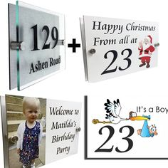 Our unique Celebration Plaques add a touch of fun to your house number at times of Celebration ~ Birthday Line Design, Tool Design, House Signs, Office Signs, House Numbers, Baby Party, Birthday Celebration, New Baby Products, How To Remove
