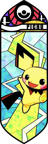 Fan art Pokémon en vitrail - Pichu