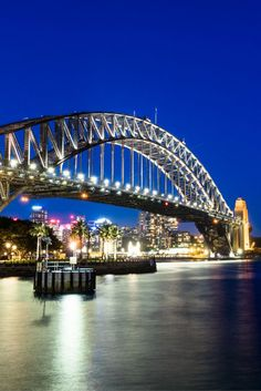 The beautiful Sydney Harbour Bridge at night. Definitely something to check out when you are in Sydney. Best camera for travel. #thingstodoinsydney #sydney #seeaustralia #besttravelcamera