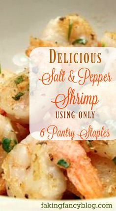 Salt & pepper shrimp just like PF Chang's! A super easy and yummy dinner that will be a regular meal in your family's favorites!