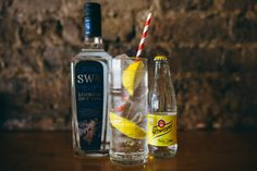 SW4 Gin, with lemon & Schweppes Indian Tonic