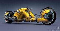 ◆ Visit ~ MACHINE Shop Café ◆ (Cosmic Motors Detonator Bike | 3D Designed by Daniel Simon)
