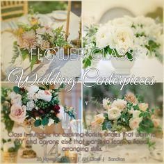 We dive into a low elegant style done with floral foam. 26 November, Floral Foam, Wedding Centerpieces, Perfect Wedding, Flower Arrangements, Floral Design, Table Decorations, Bride, Elegant