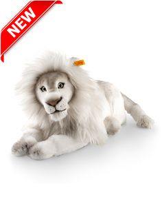 Timba Lion is made of cuddly white soft plush.