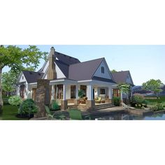 TheHouseDesigners-3151 Construction-Ready Large Farm House Plan with Slab Foundation (5 Printed Sets) 4000 Sq Ft House Plans, Cabin House Plans, House Plans One Story, Bedroom House Plans, Home Building Kits, Building A House, Farmhouse Plans, Modern Farmhouse, Farmhouse Style